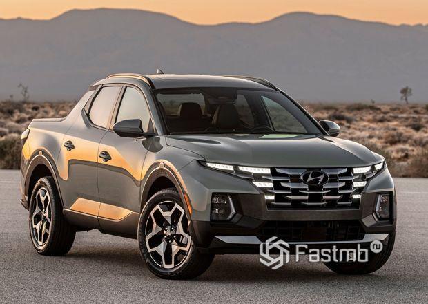 Hyundai Santa Cruz 2022, вид спереди