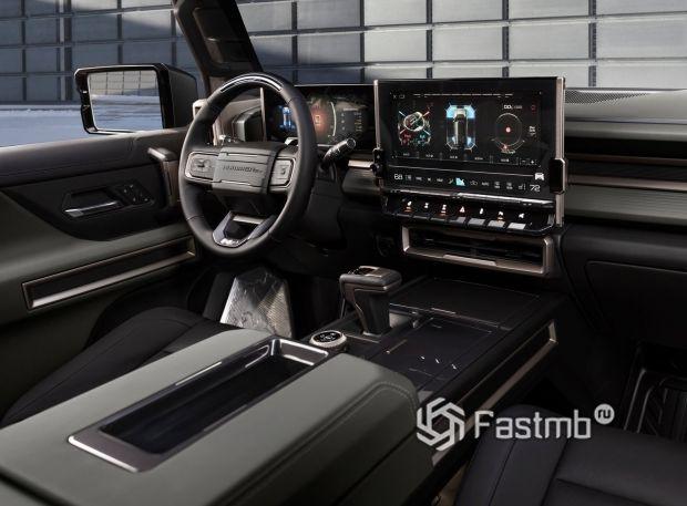 GMC Hummer EV SUV 2024, передняя панель