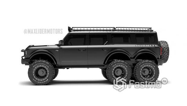 Ford Bronco 6x6 2022, вид сбоку