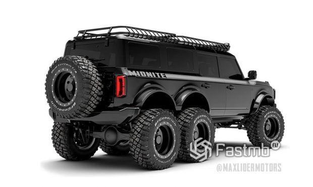 Ford Bronco 6x6 2022, вид сзади