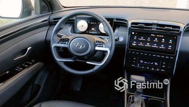 Hyundai Santa Cruz 2022, передняя панель