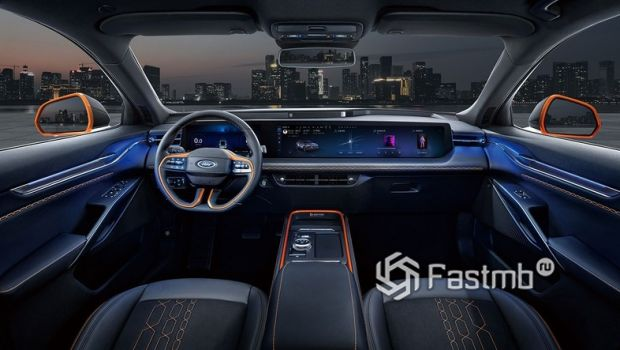 Ford Evos 2022, передняя панель