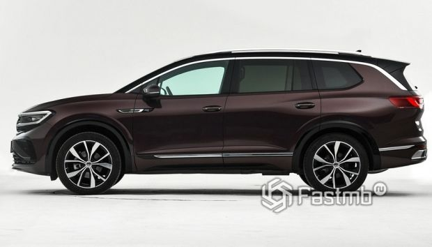 Volkswagen Talagon 2022, вид сбоку