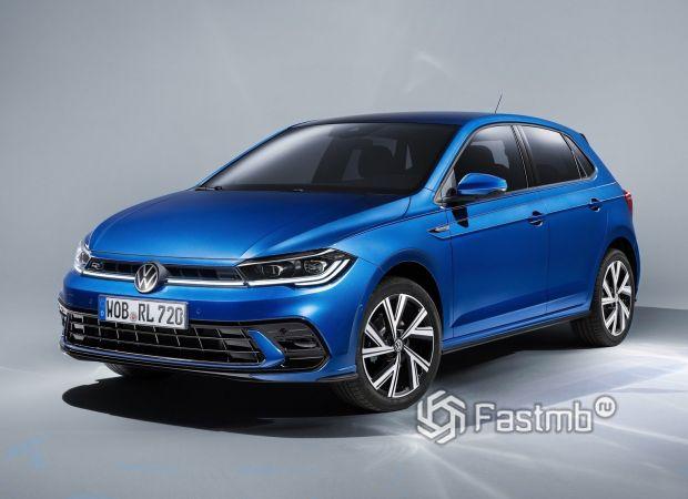 Volkswagen Polo 2022, вид спереди