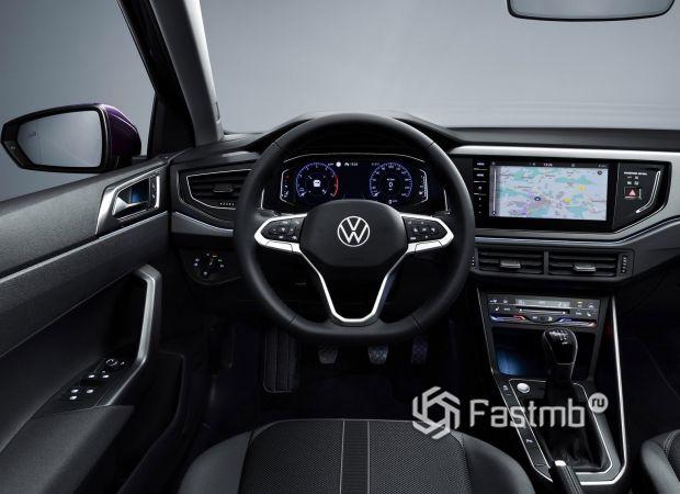 Volkswagen Polo 2022, передняя панель
