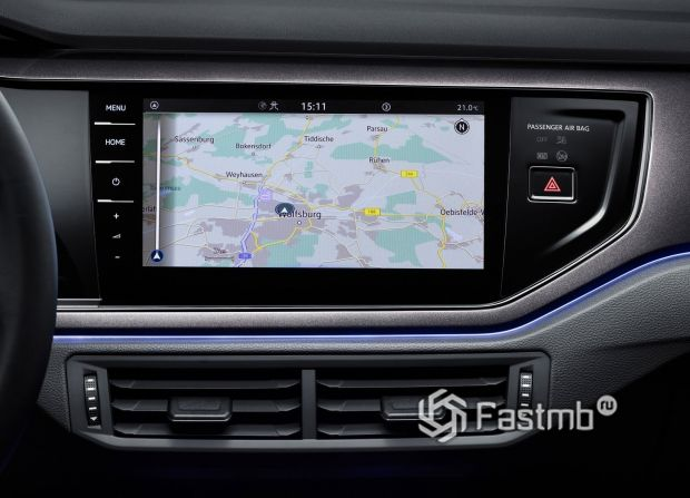Volkswagen Polo 2022, дисплей мультимедийки