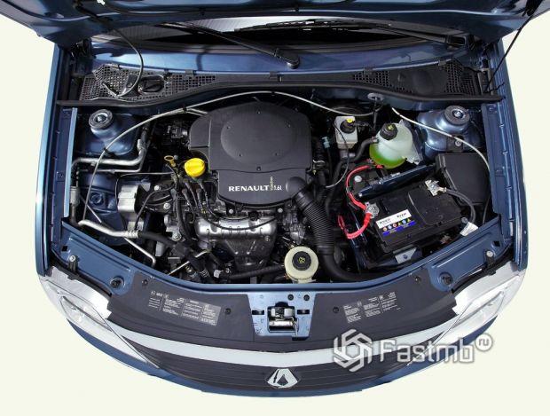 Renault Logan 2009 седан, двигатель