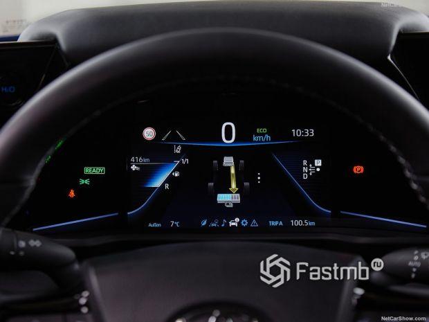 Toyota Mirai 2022, панель управления