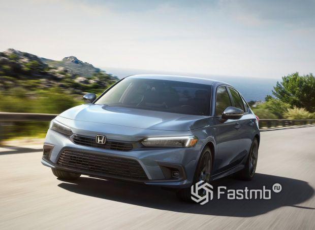 Honda Civic Sedan 2022, передняя оптика