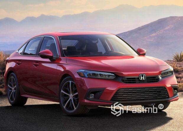 Honda Civic Sedan 2022, вид спереди