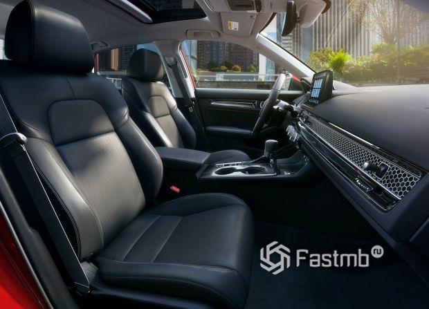 Honda Civic Sedan 2022, передние сиденья