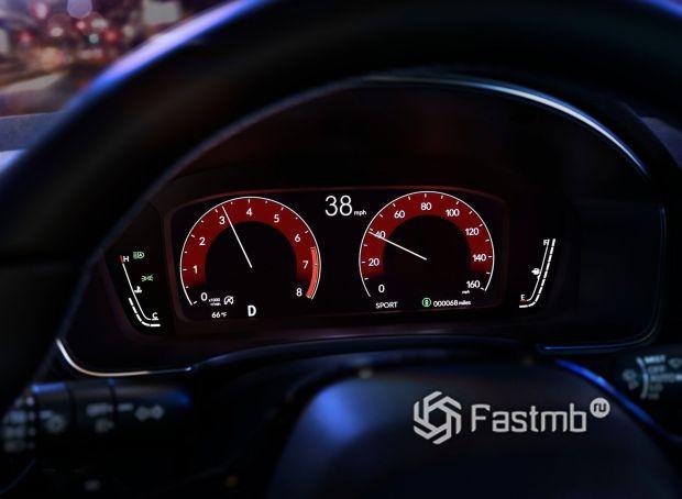 Honda Civic Sedan 2022, цифровая панель приборов