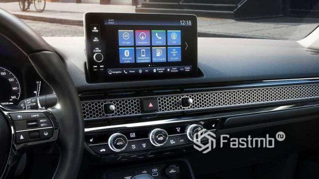 Honda Civic Sedan 2022, дисплей мультимедийной системы
