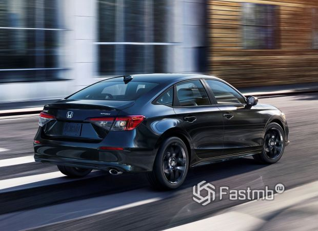 Honda Civic Sedan Sport 2022, светодиодные стопы