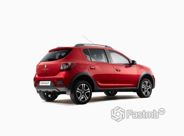 Renault Sandero Stepway 2018 рестайлинг, люк топливного бака
