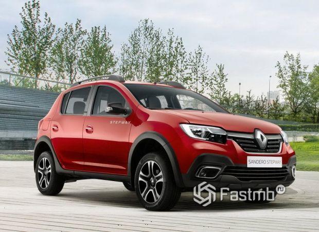 Renault Sandero Stepway 2018 рестайлинг, вид спереди