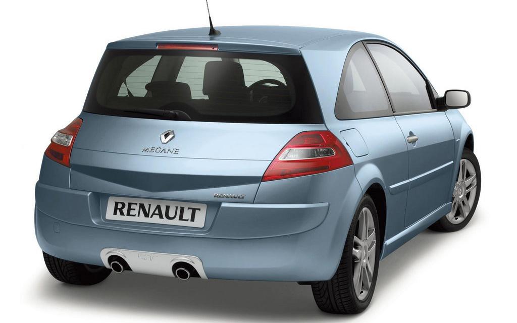 Renault Megane хэтчбек 2006 3дв рестайлинг, вид сзади
