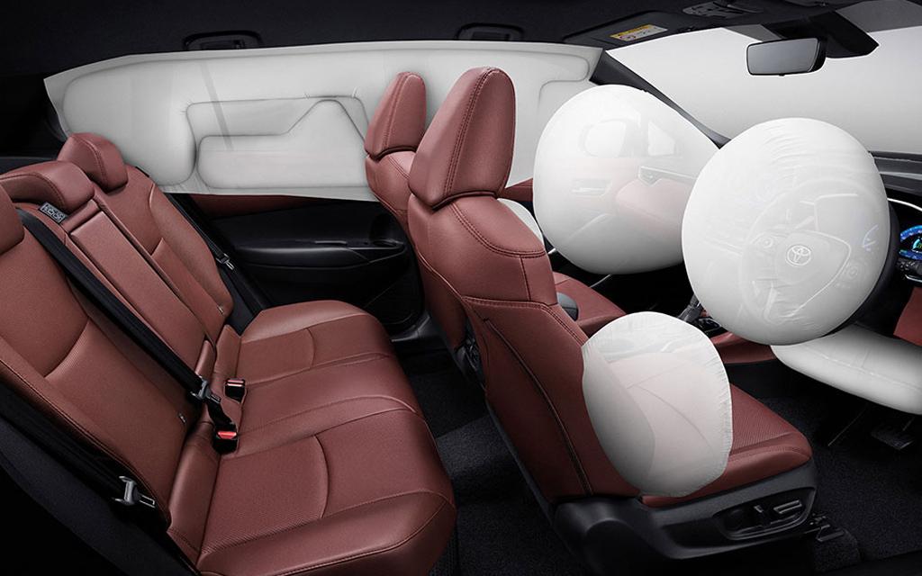 Toyota Corolla Cross 2021, подушки безопасности