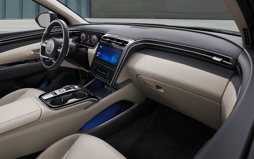 Hyundai Tucson 2021, передняя панель