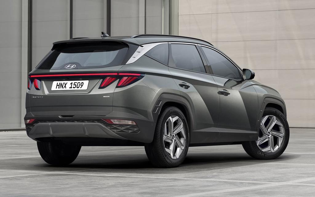 Hyundai Tucson 2021, вид сзади