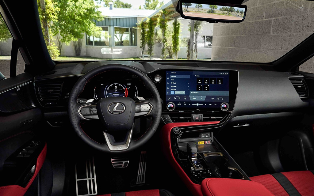 Lexus NX 2022, передняя панель