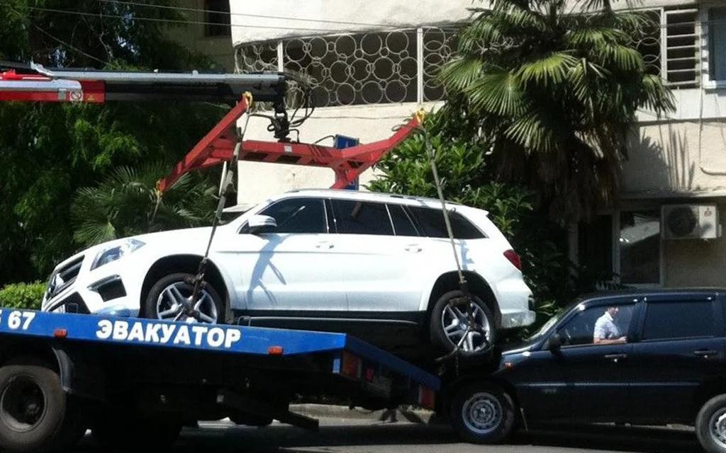 Повреждение машины при эвакуации
