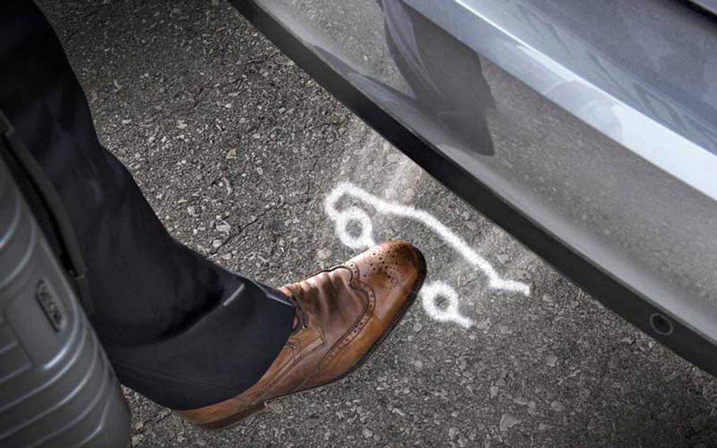 Проекция для зоны срабатывания датчика электропривода багажника