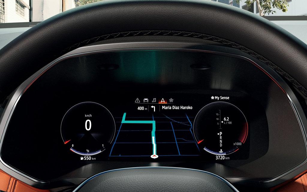 Renault Captur 2021, панель приборов