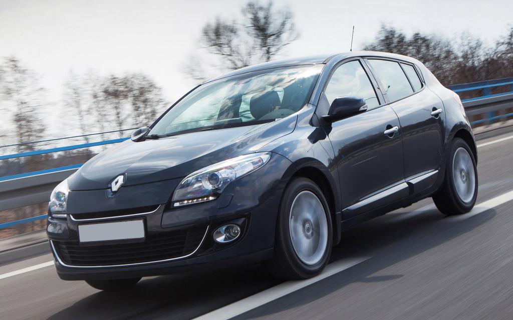 Renault Megane 2012, хэтчбек, рестайлинг 5 дв, вид спереди