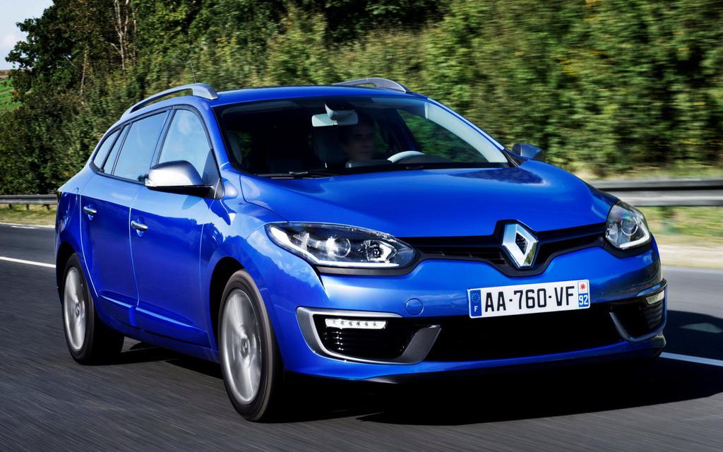 Renault Megane 2014, универсал, 2-ой рестайлинг, вид спереди