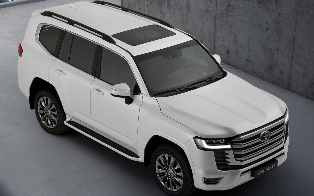 Toyota Land Cruiser 2021, крыша внедорожника