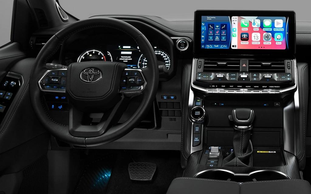 Toyota Land Cruiser 2021, цифровая панель приборов
