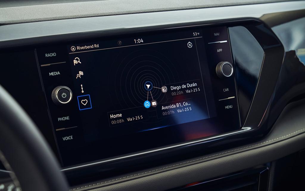 Volkswagen Taos 2022, мультимедийная система