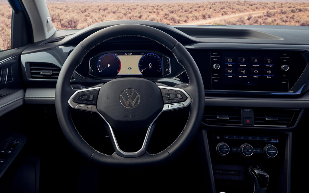 Volkswagen Taos 2022, передняя панель
