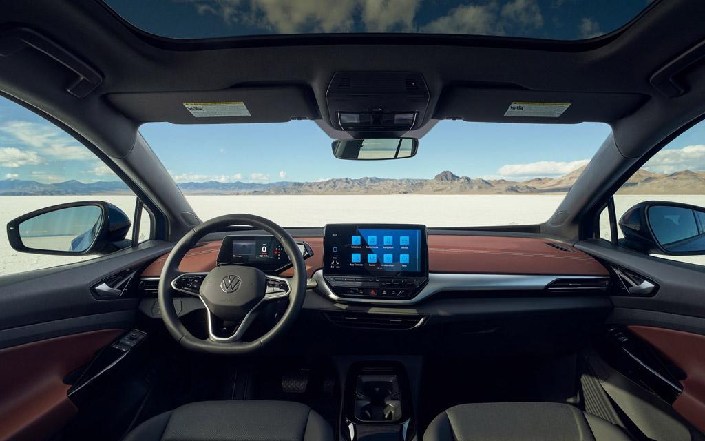 Электрический Volkswagen ID.4 2021, передняя панель