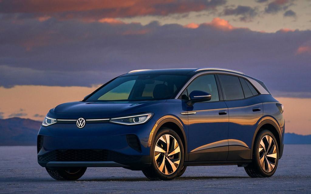 Электрический Volkswagen ID.4 2021, вид спереди