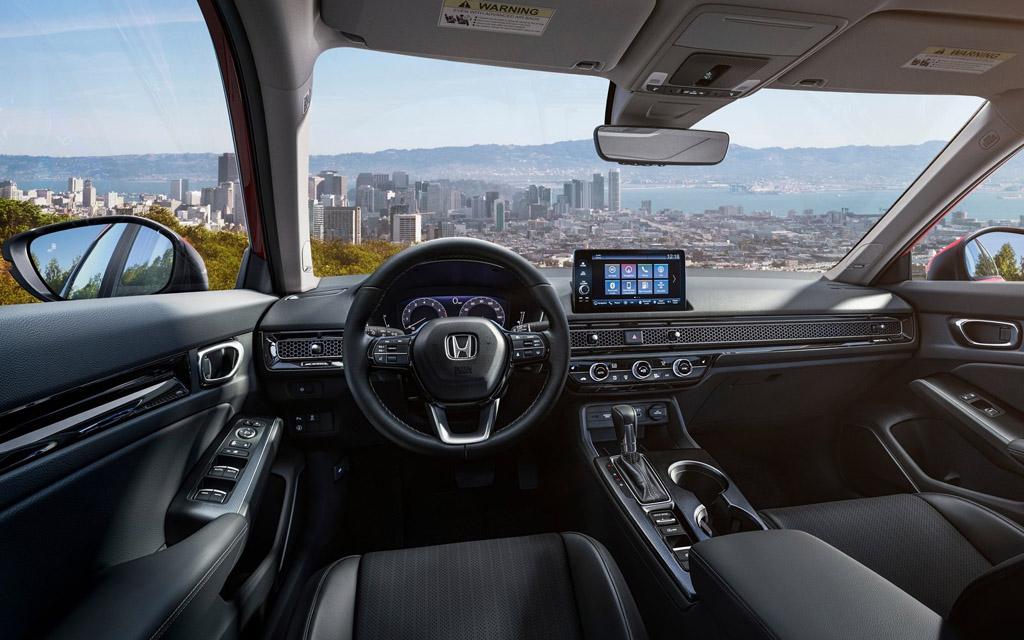 Honda Civic Sedan 2022, передняя панель