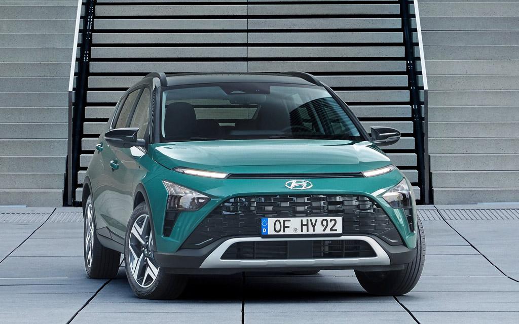 Hyundai Bayon 2022, решетка радиатора