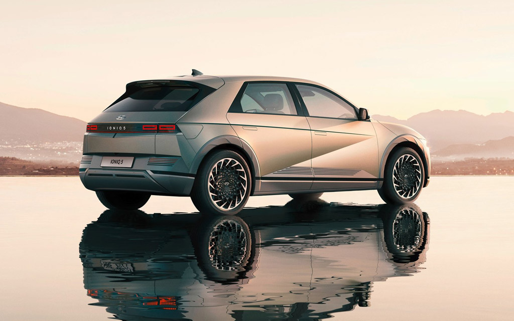 Hyundai Ioniq 5 2022, светодиодные стопы