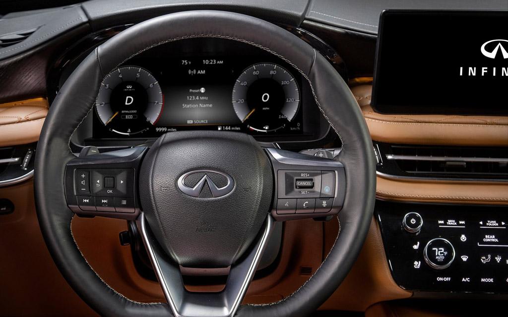 Infiniti QX60 2021, рулевое колесо