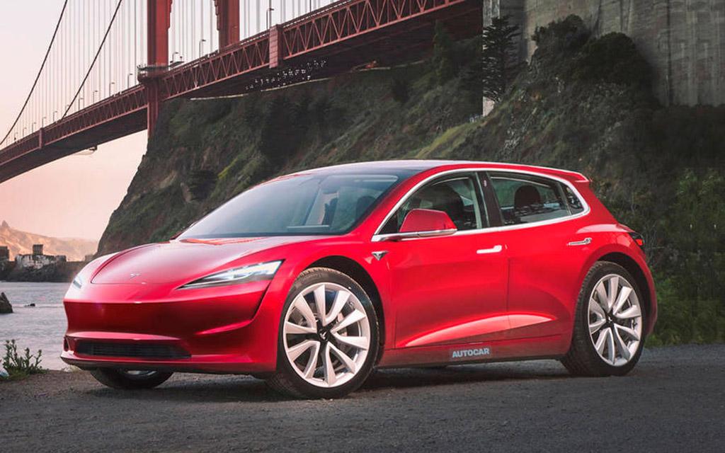 Компактный хетчбек от Tesla — подробности новинки и фото