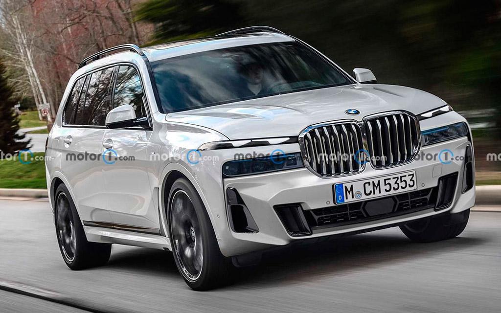 Обновленный BMW X7 2022 — новая оптика и большая решетка радиатора
