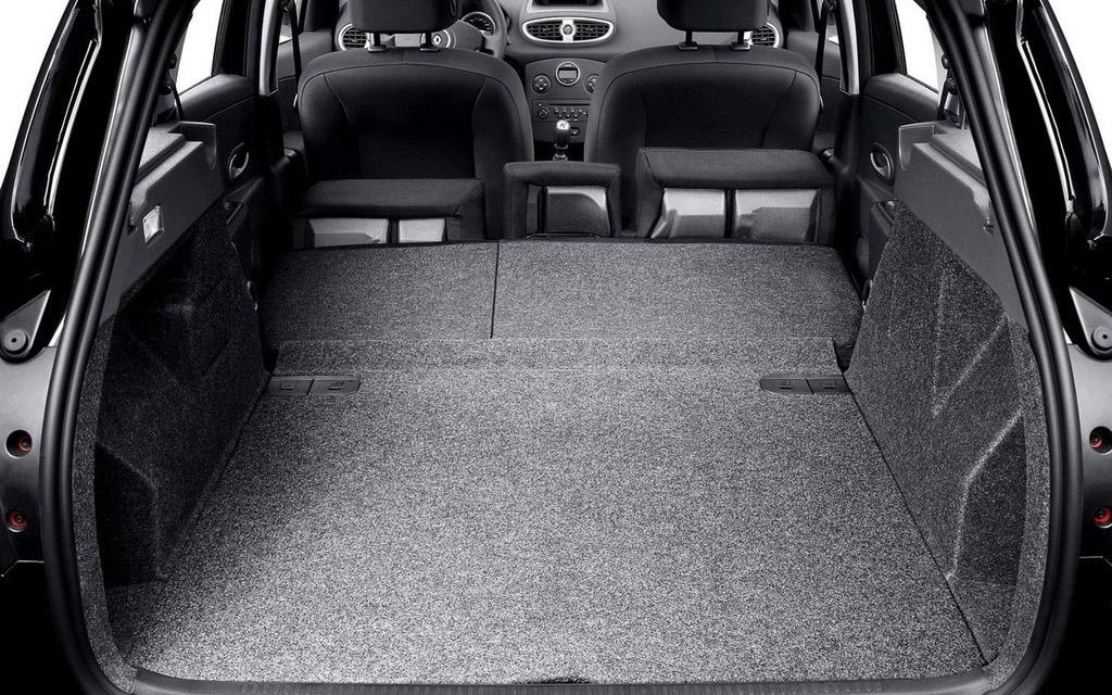 Renault Clio 2009 универсал рестайлинг, багажное отделение