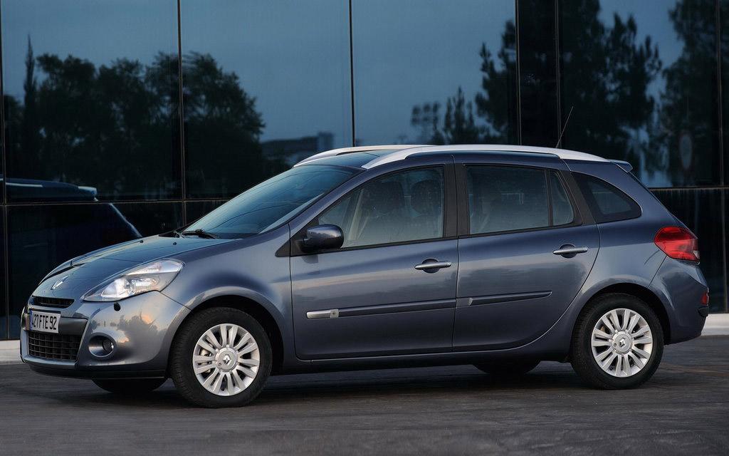 Renault Clio 2009 универсал рестайлинг, вид сбоку
