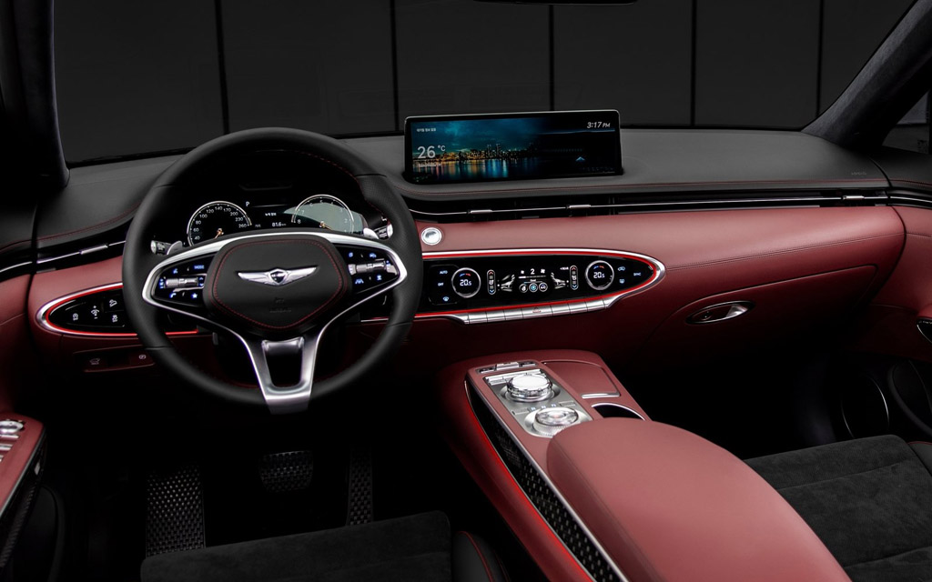 Genesis GV70 2021, передняя панель