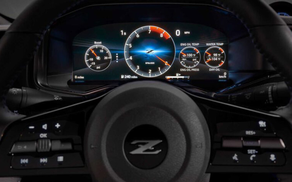 Nissan Z 2021, цифровая панель приборов