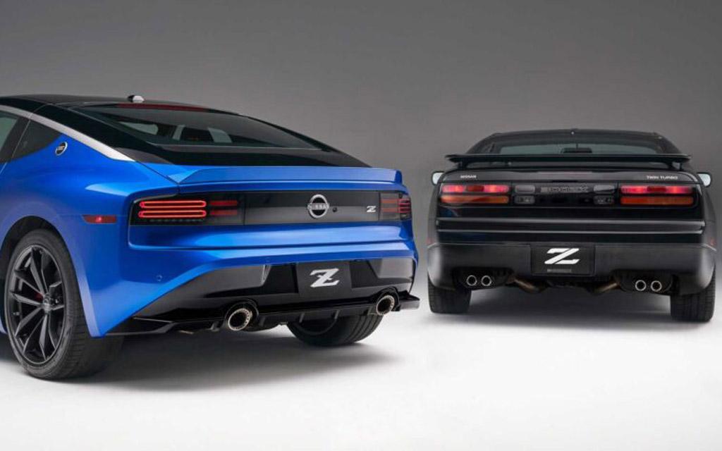 Nissan Z 2021, задние стопы старого и нового купе