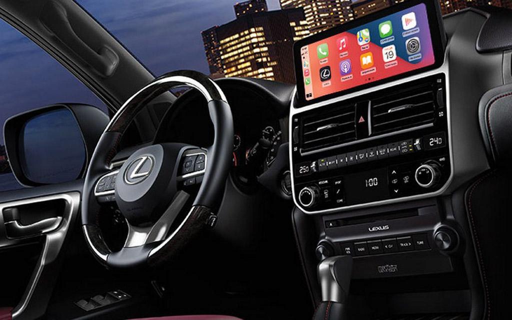 Новый Lexus GX 2021 в России, передняя панель