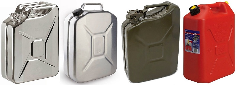 В чем лучше перевозить бензин – в пластиковых или металлических канистрах?