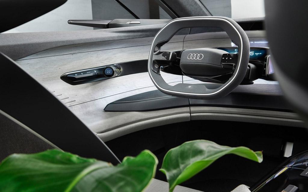 Audi Grandsphere Concept 2021, рулевое колесо
